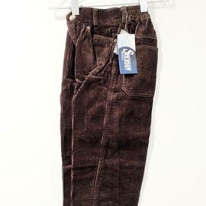 NWT Shoham Pants Corduroy Trousers Brown